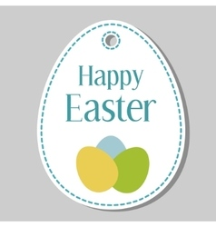 Happy easter gift tag vector