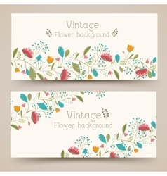 Retro flower vertical banners concept vector