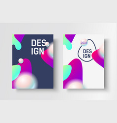 Abstract business brochure design template vector