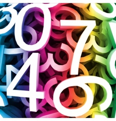 Abstract colorful digital numbers vector image vector image