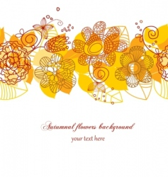 autumn flowers background vector image