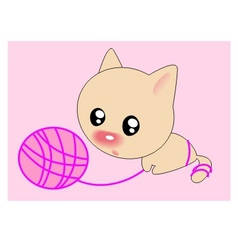 ball cat vector image vector image