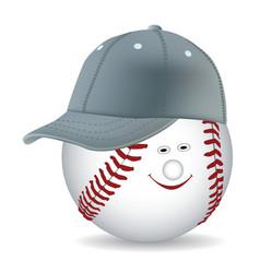 ball in a baseball cap vector image vector image
