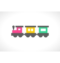beautiful multi colored toy train vector image vector image