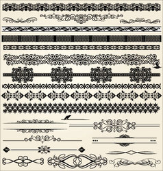Calligraphic and decor design elements vector
