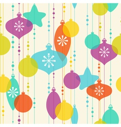 Christmas decoration pattern on light background vector