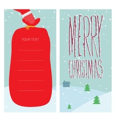 Christmas greeting with Santa Claus vector image