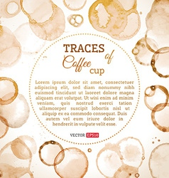 Coffee cup traces background vector