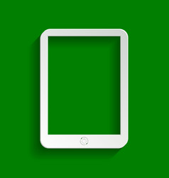 Computer tablet sign paper whitish icon vector
