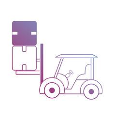Contour top lifter with boxes packages vector