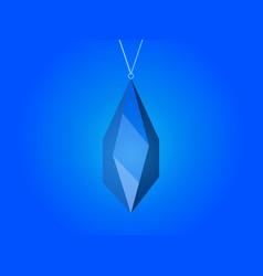 crystal pendant magic stone jewel vector image