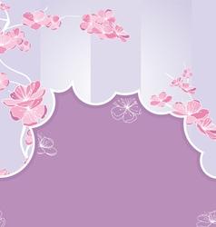 cut flow violet vector image vector image