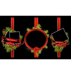 decorative Christmas frames vector image
