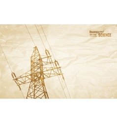 Electrical Transmission Line vector image