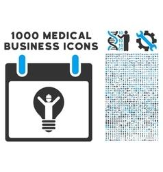 Electrician calendar day icon with 1000 medical vector