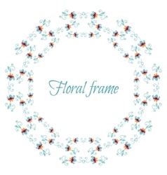 Elegant floral frame with stylized flowers vector