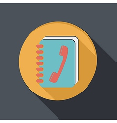 Flat icon with a shadow phone address book vector