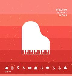 Grand piano icon vector