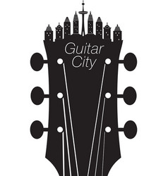 Headstock city vector