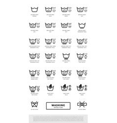 Icon set of laundry symbols vector