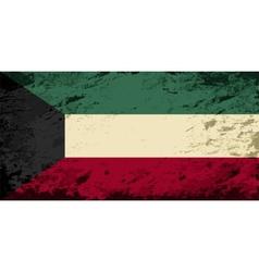 Kuwait flag Grunge background vector image