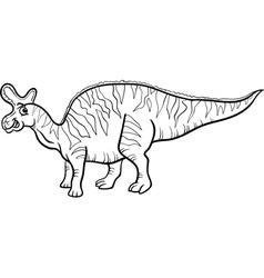 lambeosaurus dinosaur coloring page vector image