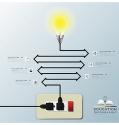 Light Bulb Electric Line Education Infographic vector image