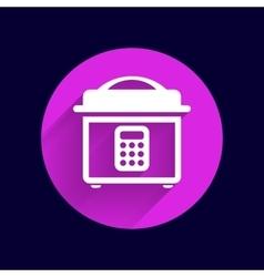 Multicooker monochrome icon button chef cook vector