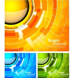 Orange background vector image vector image