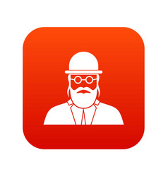 Orthodox jew icon digital red vector