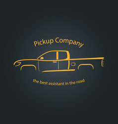 Pickup company car logo vector