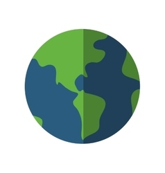 Planet world sphere circle icon graphic vector