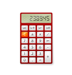 Red office calculator vector
