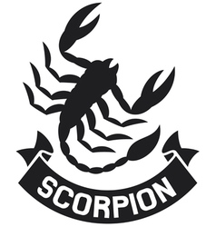 scorpion label vector image vector image