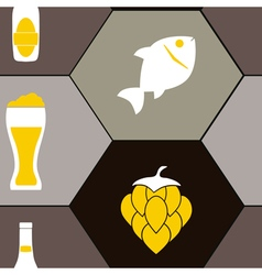 seamless pattern with consumption of beer vector image