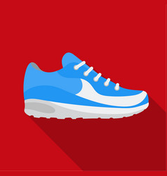 Sneakers icon in flat style isolated on white vector