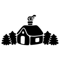 Snow house vector