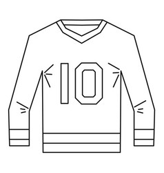 sports shirt with the number 10 icon outline style vector image