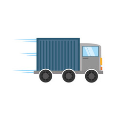 Truck delivery transport design vector