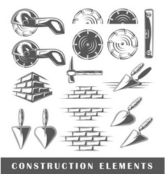 vintage construction elements vector image vector image