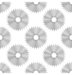 Circular saw steel disc seamless pattern vector