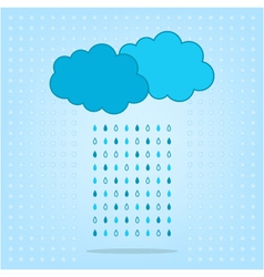 Clouds with rain isolated on the background vector
