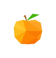 Abstract origami peach vector
