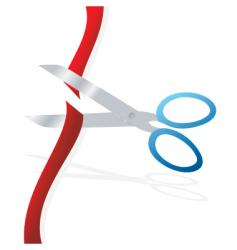 cut ribbon vector image