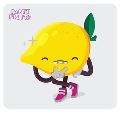 Yellow lemon character isolate vector