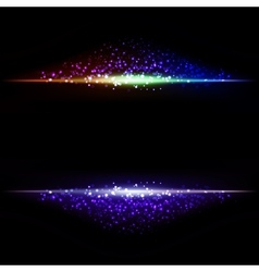 Abstract dark background with color light vector