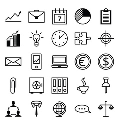 Icon set a business and office vector