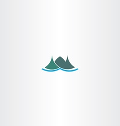 Logo mountain green iceland icon sign vector