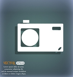 Photo camera sign icon digital symbol on the vector