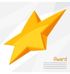 Gold star award on abstract vector